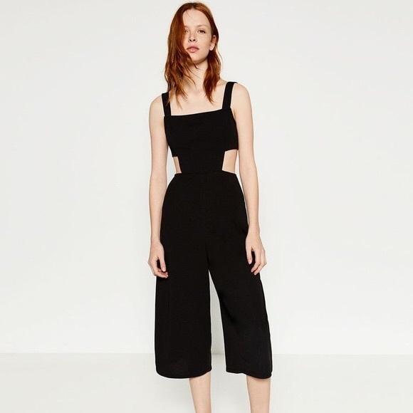08fcc5c68cb Zara black cutout culotte jumpsuit. M 5aef54793b1608201b8030c7
